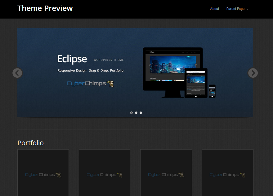 eclipse wordpress portfolio theme
