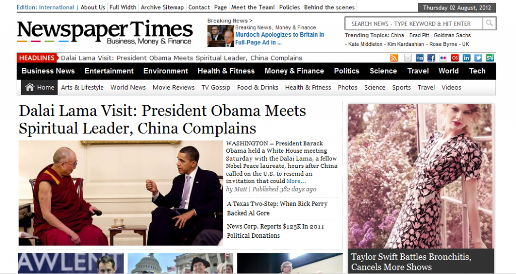 Newspaper Times top Wordpress Theme for online News Site