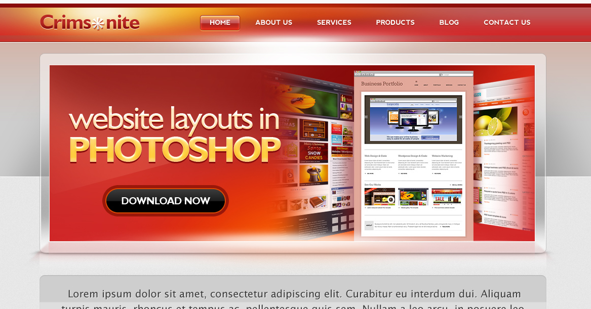 Free High Quality Web Templates In PSD
